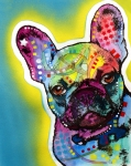 Print Framed Prints - French Bulldog Framed Print by Dean Russo