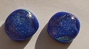 Mirror Jewelry - Fused Glass Earrings by Judy Schnabel