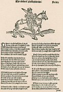 Famous Book Art - Geoffrey Chaucers, Canterbury Tales by Photo Researchers