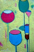 Abstract Composition Paintings - 5 Glasses by Ana Maria Edulescu