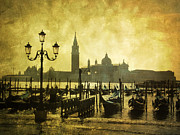 During Art - Gondolas. Venice by Bernard Jaubert