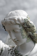 Bible Sculpture Metal Prints - Grieving Angel Metal Print by Yurix Sardinelly