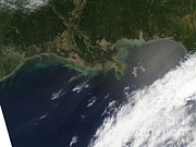 Gulf Oil Spill, April 2010 Print by Nasa