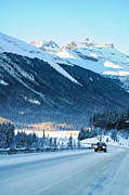 Alp Photos - Highway in Winter through mountains by Ulrich Schade