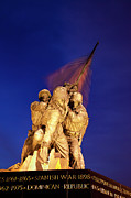 Honor Framed Prints - Iwo Jima Memorial Framed Print by Brian Jannsen