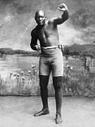 African-american Photo Framed Prints - Jack Johnson (1878-1946) Framed Print by Granger