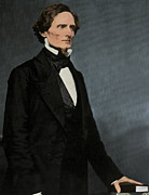 Confederate States Of America Framed Prints - Jefferson Davis, President Framed Print by Photo Researchers