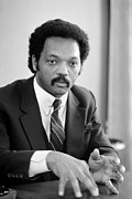 African-american Photo Framed Prints - Jesse Jackson (1941- ) Framed Print by Granger