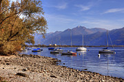 Sail Boats Prints - Lake Maggiore Print by Joana Kruse