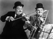 Hardy Photos - Laurel And Hardy by Granger