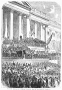 Lincoln Speech Posters - Lincolns Inauguration Poster by Granger