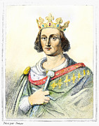 Creuse Framed Prints - Louis Ix (1214-1270) Framed Print by Granger