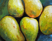Mangos Paintings - 5 Mangos by Chris Steinken