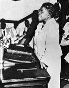 Mid-20th Framed Prints - Mary Mcleod Bethune Framed Print by Granger