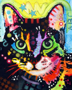Cat Art Mixed Media Metal Prints - Maya Metal Print by Dean Russo