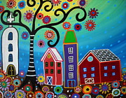Tree Of Life Art - Mexican Town by Pristine Cartera Turkus