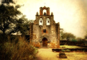Church Photo Posters - Mission Espada Poster by Iris Greenwell