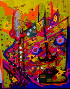 Abstract Impression Paintings - Need More Coffee by Allen n Lehman