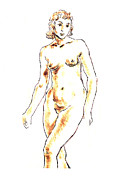 Inviting Drawings - Nude by Aljo Beran