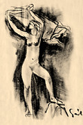Perfect Drawings - Nude girl by Odon Czintos