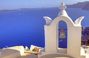 Bell Tower Framed Prints - Oia - Santorini Framed Print by Joana Kruse