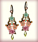 Christmas Jewelry - Orly Zeelon The Majestic Floral Earrings by Orly Zeelon