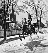 1775 Art - Paul Reveres Ride, 1775 by Granger