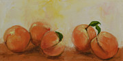 Peaches Painting Prints - 5 Peaches Print by Cathy McIntire
