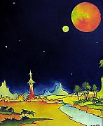 Outer Space Painting Originals - Planet X by James Smith