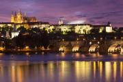 Medieval Style Framed Prints - Prague Castle and Charles Bridge Framed Print by Andre Goncalves