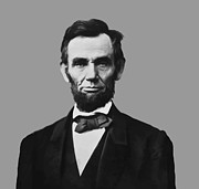 Abe Framed Prints - President Lincoln Framed Print by War Is Hell Store