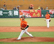 Professional Baseball Game In Taiwan Print by Yali Shi