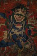 Tibetan Buddhism Paintings - Qing Dynasty Thang-ga part  Tibet by He Hong