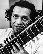 Ravi Art - Ravi Shankar, Musician, Composer by Everett