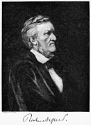 Sideburns Framed Prints - Richard Wagner (1813-1883) Framed Print by Granger