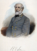 19th Century America Metal Prints - Robert E. Lee (1807-1870) Metal Print by Granger