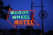 Neon - Route 66 - Wagon Wheel Motel by Frank Romeo