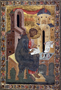Manuscript Illumination Prints - Saint Mark Print by Granger