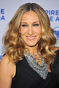 State Dinner Prints - Sarah Jessica Parker At Arrivals Print by Everett