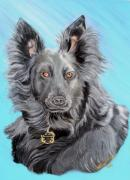Pooch Paintings - Savannah by Nancy Rucker