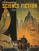 Hubert Framed Prints - Science Fiction Magazine Framed Print by Granger