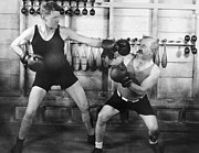 Boxer Framed Prints - Silent Film Still: Boxing Framed Print by Granger