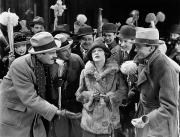 Crowd Scene Art - Silent Film Still: Crowds by Granger