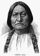 Chief Sitting Bull Framed Prints - Sitting Bull (1834-1890) Framed Print by Granger