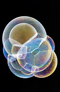 Merging Acrylic Prints - Soap Bubbles Acrylic Print by Lawrence Lawry