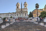 Santa Metal Prints - spanish steps in Rome Metal Print by Joana Kruse