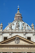 Vatican Photos - St Peter dome in Vatican by George Atsametakis