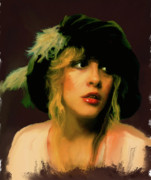 Stevie Nicks Print by Brian Tones