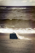 Rough Sea Framed Prints - Suitcase Framed Print by Joana Kruse