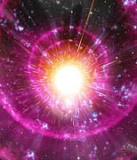 Gamma Ray Burst Photos - Supernova Explosion, Artwork by Mehau Kulyk